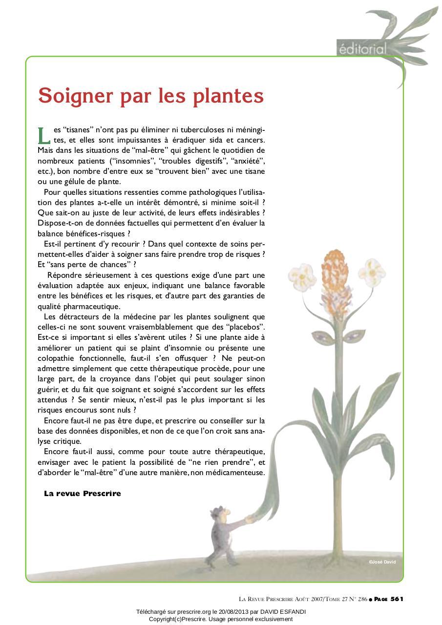 Soigner par les par revue prescrire fichier pdf - Plante pour soigner les verrues ...