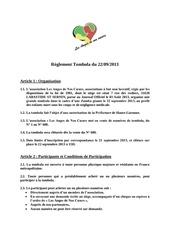 reglement tombola 22