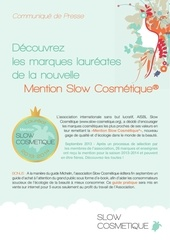 communique presse mention slow cosmetique