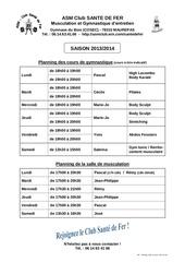 planning salle et gym 2013 14