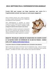 Fichier PDF affiche experimentation animale