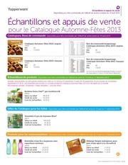 chantillons catalogue fetes 2013