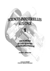 livre cours sciences industrielles 1ere annee ouakidi2010