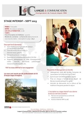 stage intensif septembre