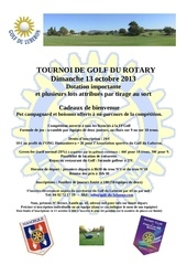 annonce du tournoi de golf 2013