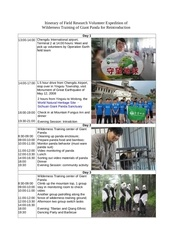agenda for wilderness training of giant panda
