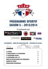 l f p saison 5 programme sportif 2013 2014