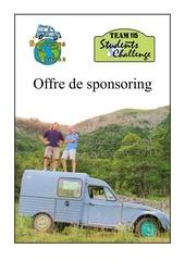offre de sponsoring solidaires et libres 1