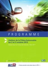 programme ateliers de la filiere automobile 2013