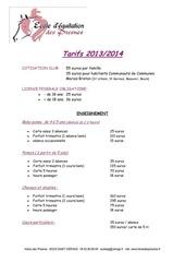 tarifs 2013 2014 a4