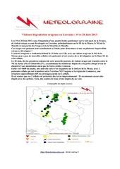 degradation orageuse 19 et 20 juin 2013