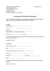 inscription 1ere communion 1