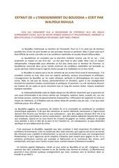 Fichier PDF extrait de l enseignement du bouddha ecrit par walpola rahula