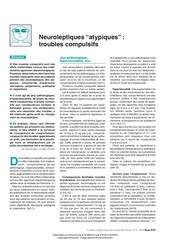 neuroleptiques 22atypiques 22 troubles compulsifs
