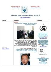 aihr iadh human rights press review 2013 09 04