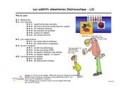 cours l3 nutraceutique additifs alimentaires