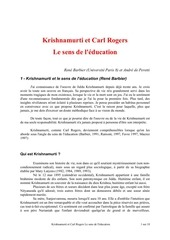 krishnamurti le sens de l education