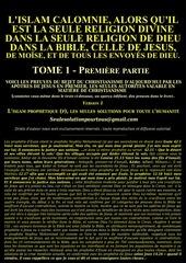 lislam seule religion divine dans la bible