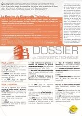 diagnostics immobiliers le dossier de diagnostic technique