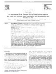 Fichier PDF an assessment of the surgical apgar score in spine surgery