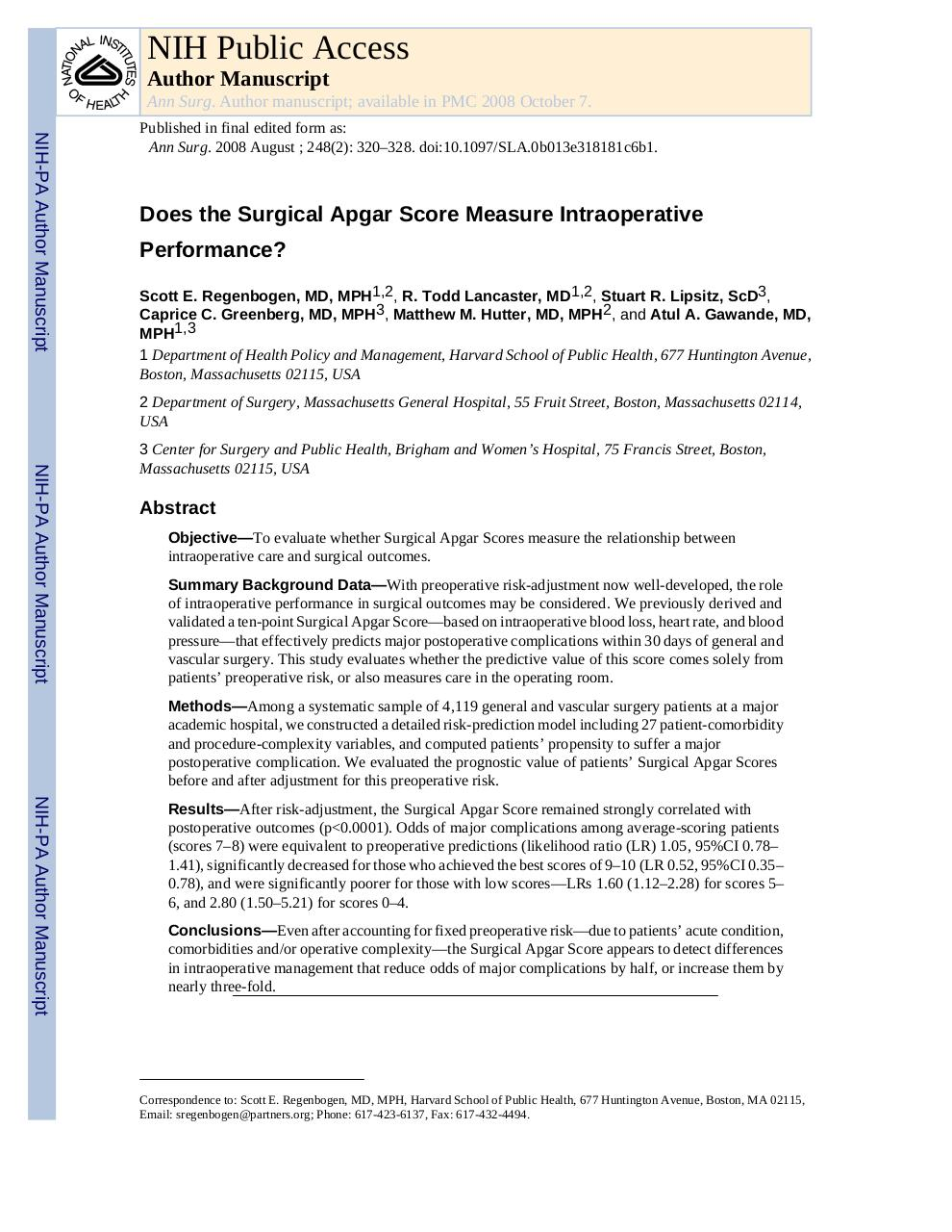 Does the Surgical Apgar Score Measure Intraoperative.pdf - page 1/16