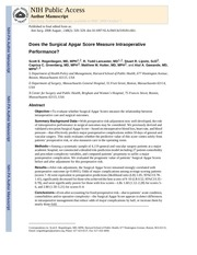does the surgical apgar score measure intraoperative