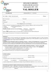 Fichier PDF formulaire complet demande adhe sion licence 2013 2014