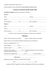 inscription et autorisation parentale concours 2013