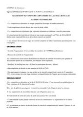 regle concours 2013
