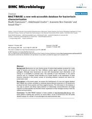 bactibase a new web accessible database for bacteriocin
