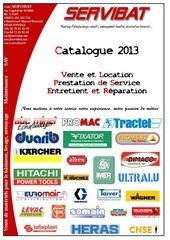 catalogue servibat 2013 prestation de service plateforme suspendue sav