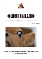 narg info aout 2013