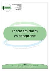 cout des etudes orthophonie