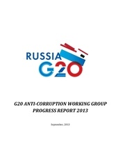 g20 anti corruption working group progress report 2013