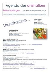 agenda du mois de septembre 2013 belley bas bugey