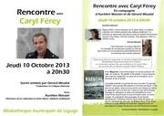 caryl ferey a liguge 10 oct 2013