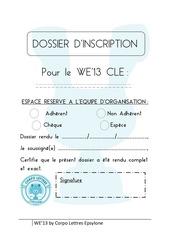 dossier inscription we 13