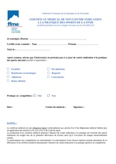 Fichier PDF certificat medical