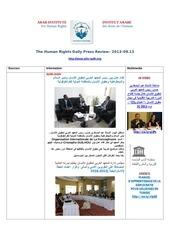 aihr iadh human rights press review 2013 09 13