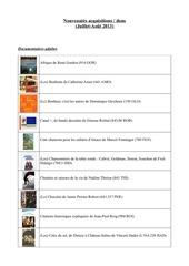 nouveaute s dons 16 07 2013