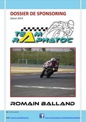 dossier sponsoring 2014 romain balland