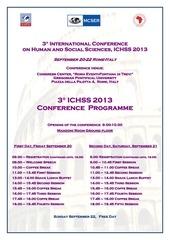draft programme ichss 2013