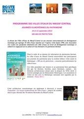 programme villes deaux journees du patrimoine 2013