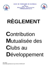 cmcd lnhb reglement 2013 2014