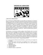 origenes del liberalismo
