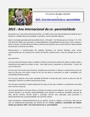 ano internacional da co parentalidade