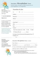 formulaire donateur pdf