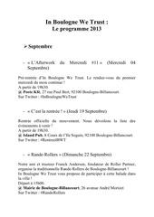 plaquette programme 2013 ibwt