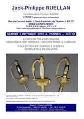 francis loisel expert vente armes vannes 5 octobre 2013