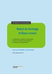 plan statut fermage baux ruraux